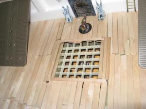 Grating in Deck made with styrene