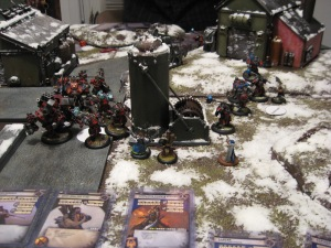 Khador chews through the First Army at the bottleneck