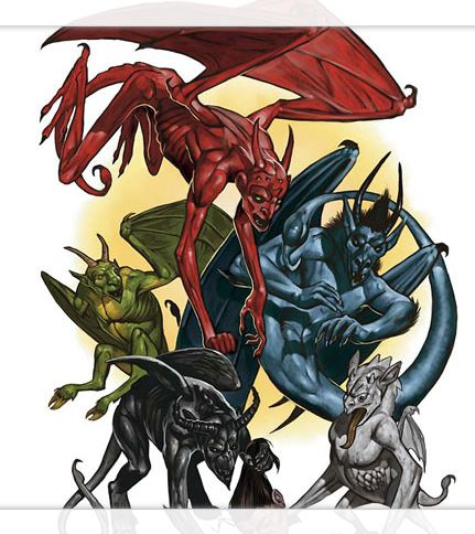 Abishai were medium-sized devils from the Nine Hells loyal to Tiamat,