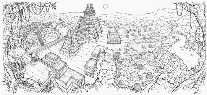 Mayan City Historical Pan